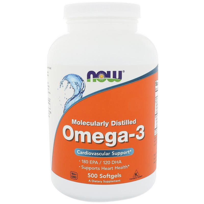 Now Foods Omega-3 180 EPA / 120 DHA 500 softgels - фото 1