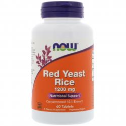 Now Foods Red Yeast Rice 1200 mg 60 tablets