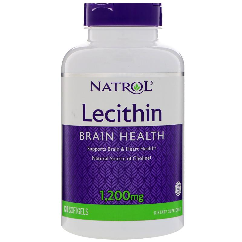 Natrol Lecithin 1200 mg 120 Softgels - фото 1