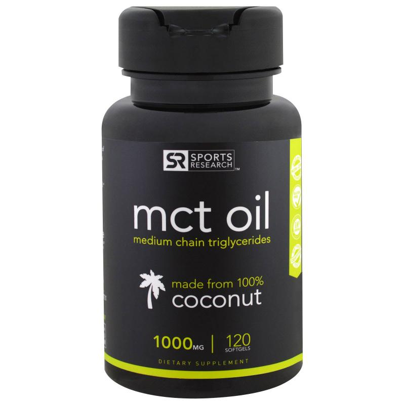 Sports Research MCT Oil coconut 1000 mg 120 softgels - фото 1