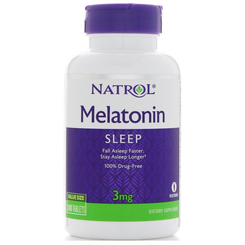 Natrol Melatonin 3 mg 240 tab - фото 1
