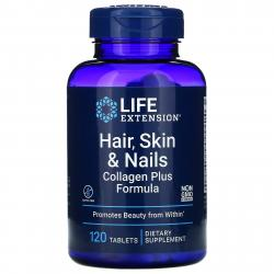 Life Extension Hair Skin and Nails Collagen plus formula 120 tablets