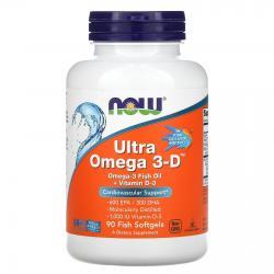 Now Foods Ultra Omega 3-D + Vitamin D-3 90 softgels