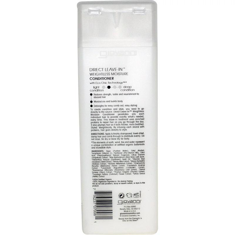 Кондиционер Giovanni Conditioner Direct Leave-In Weightless Moisture 250 ml - фото 1
