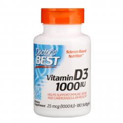 Doctor's Best D-3 1.000 IU 180 softgels