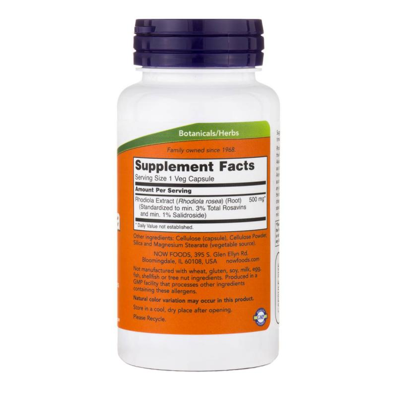 Now Foods Rhodiola 500 mg 60 vcaps - фото 1