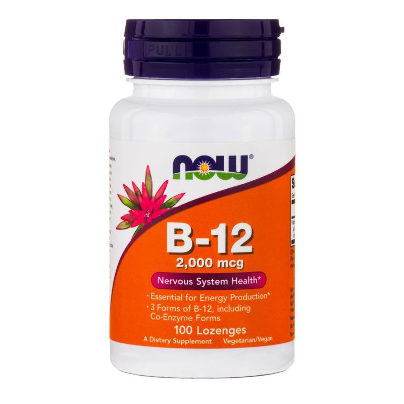 Now Foods B-12 2000 mcg 100 lozenges - фото 1