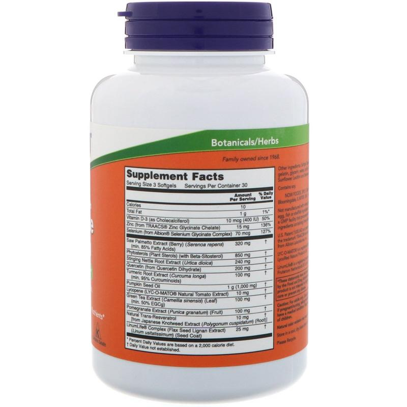 Now Foods Prostate Health 90 Softgels - фото 1