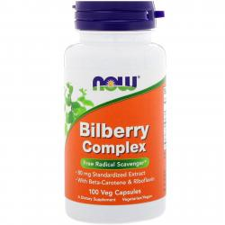 Now Foods Bilberry Complex 100 vcaps