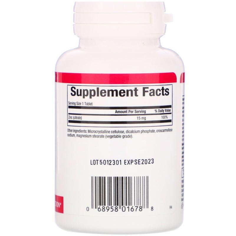 Natural Factors Zinc Citrate 15 mg 90 tablets - фото 1
