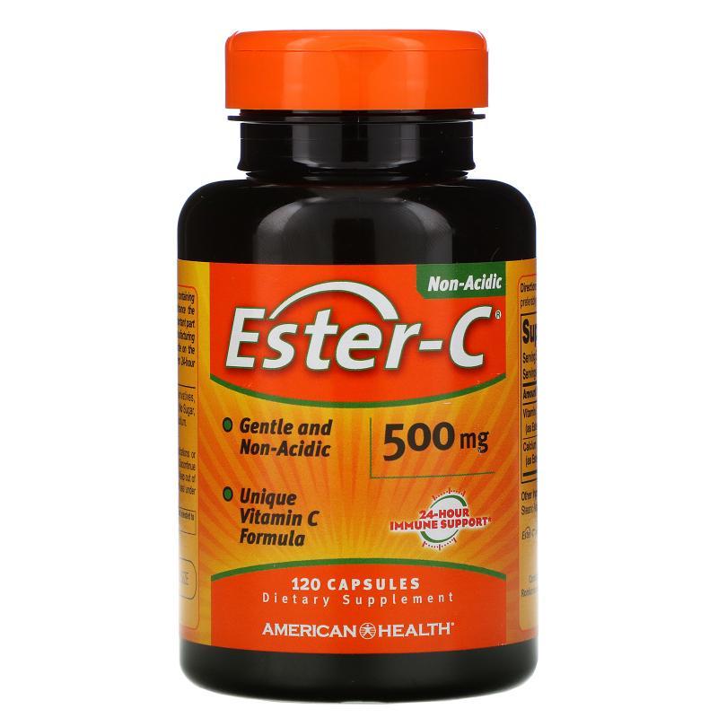 American Health Ester-C 500 mg 120 Capsules - фото 1