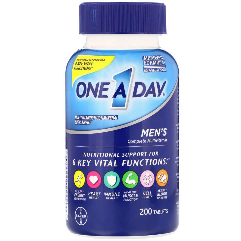 One A Day Men's Complete Multivitamin 200 tablets - фото 1