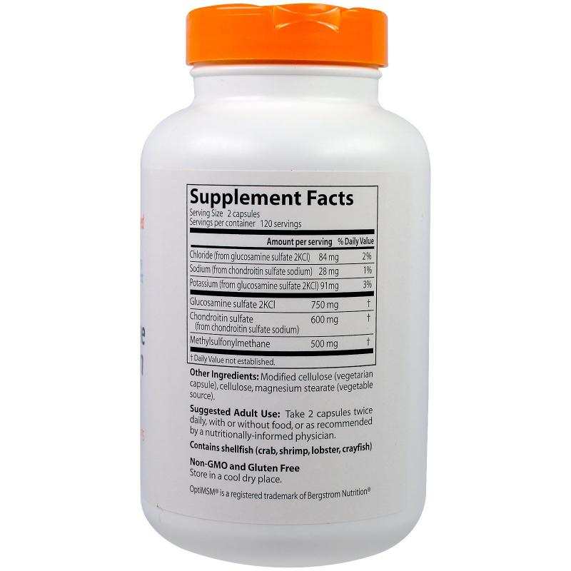 Doctor's Best Glucosamine & Chondroitin & MSM 240 caps - фото 1