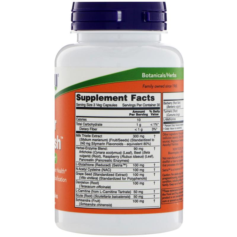 Now Foods Liver Refresh 90 Veg Capsules - фото 1