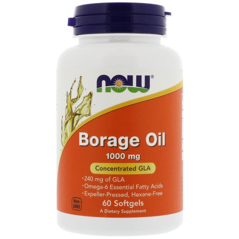 Now Foods Borage Oil 1000 mg 60 vacps - фото 1