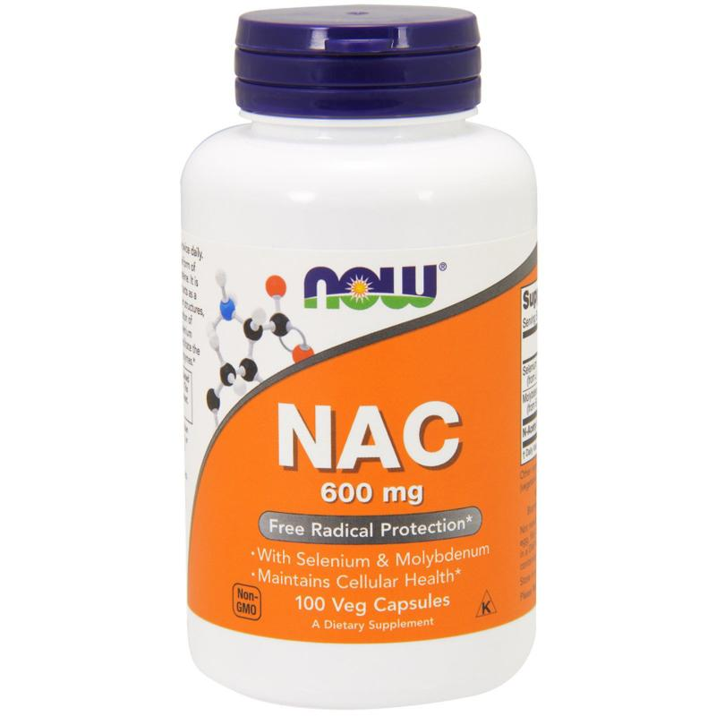Now Foods NAC 600 mg 100 vcaps - фото 1
