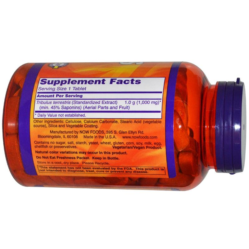 Now Foods Tribulus 1000 mg 180 tabs - фото 1