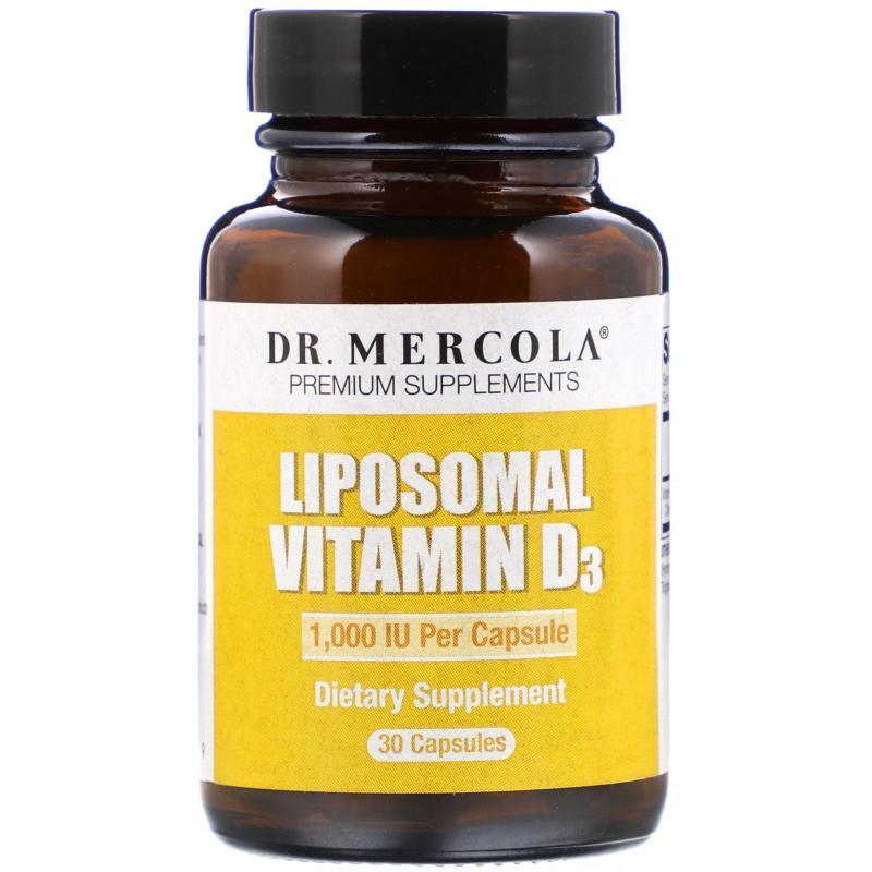 DR. Mercola Liposomal Vitamin D-3 1,000 ME 30 capsules - фото 1