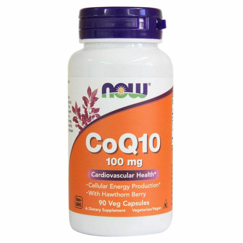 Now Foods CoQ10 100 mg with Hawthorn Berry 90 Vcaps - фото 1