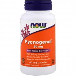Now Foods Pycnogenol 30 mg 60 vcaps
