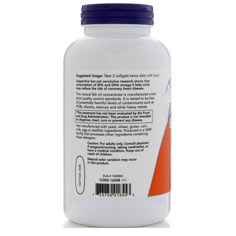 Now Foods Eco-Sustain Omega-3 180 softgels - фото 1