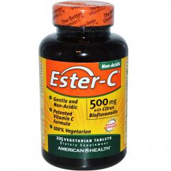 American Health Ester-C 500 mg with Citrus Bioflavonoids 225 vegeterian tablets