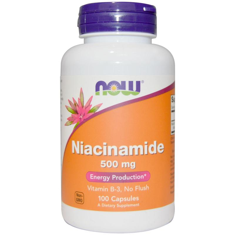 Now Foods Niacinamide 500 mg 100 caps - фото 1
