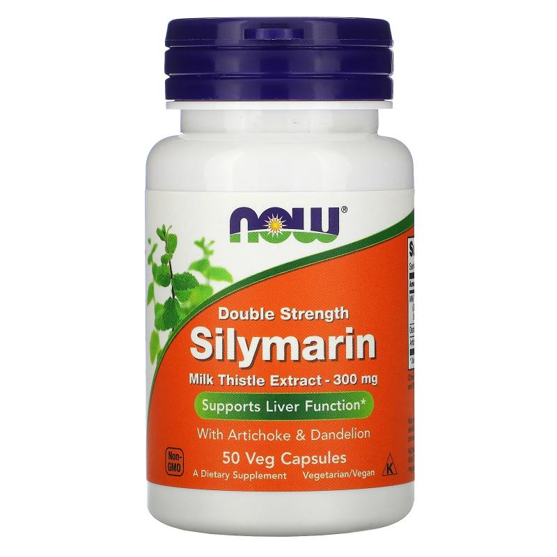 Now Foods Silymarine Doble Strenght 300 mg 50 vcaps - фото 1