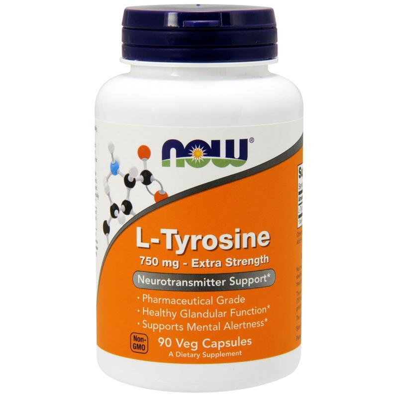 Now Foods L-Tyrosine 750 mg 90 caps - фото 1