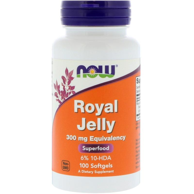 Now Foods Royal Jelly 300 mg 100 softgels - фото 1