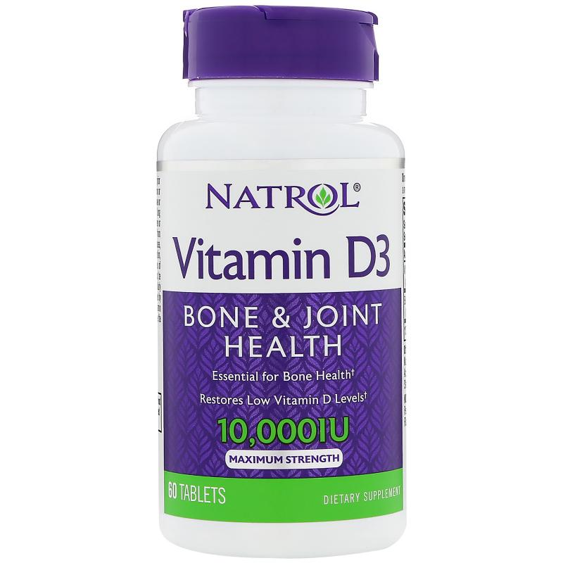 Natrol Vitamin D-3 10.000 IU 60 Tablets - фото 1
