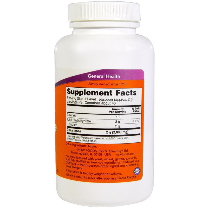 Now Foods D-Mannose Pure Powder 85 g - фото 1