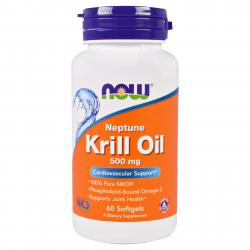 Now Fods Neptune Krill Oil 500 mg 60 softgels