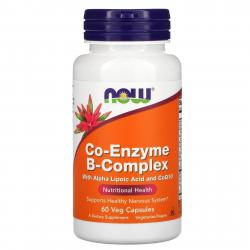 Now Foods Co-Enzyme B-Complex with Alpha lipoic acid and CoQ10 60 Capsules
