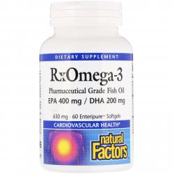 Natural Factors RxOmega-3 630 mg 60 softgels