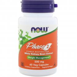 Now Foods Phase 2 500 mg 60 Veg Capsules