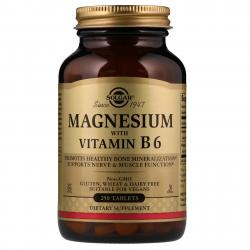 Solgar Magnesium with Vitamin B 6 250 Tablets