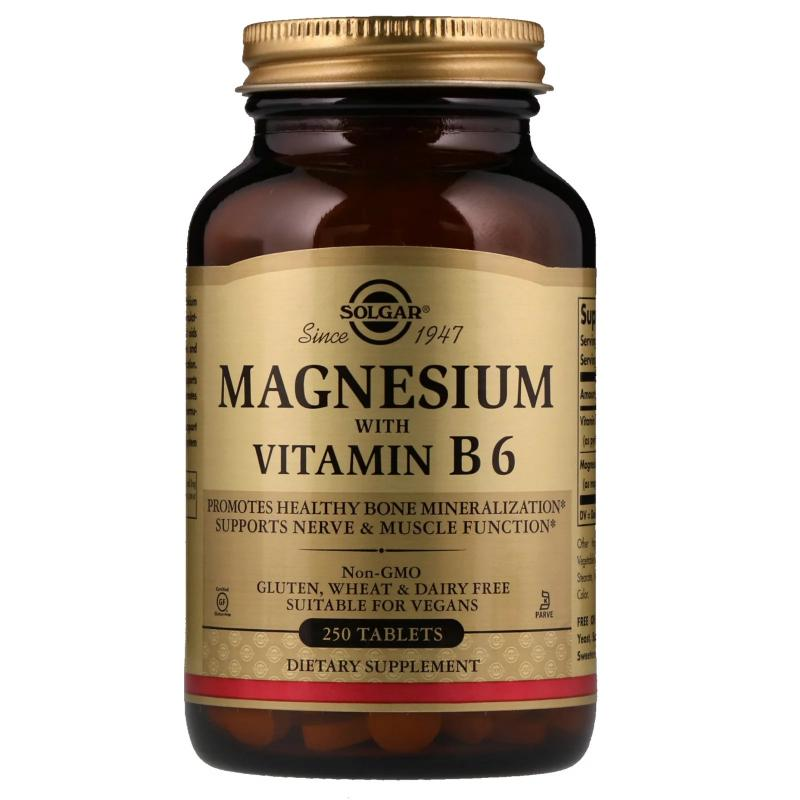 Solgar Magnesium with Vitamin B 6 250 Tablets - фото 1