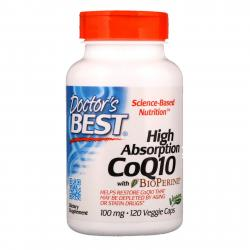 Doctor's Best CoQ10 with BioPerine 100 mg 120 vcaps
