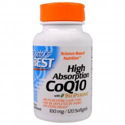 Doctor's Best CoQ10 with BioPerine 100 mg 120 softgels