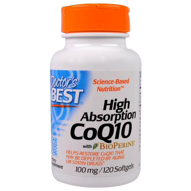 Doctor's Best CoQ10 with BioPerine 100 mg 120 softgels - фото 1