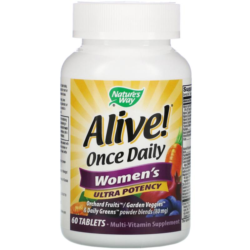 Natures's Way Alive Once Daily Women's 60 tablets - фото 1