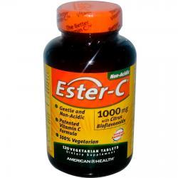 American Health Ester-C with Citrus Bioflavonoids 1000 mg 120 Capsules