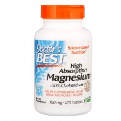 Doctor's Best Magnesium 100 % Chelated 120 tablets