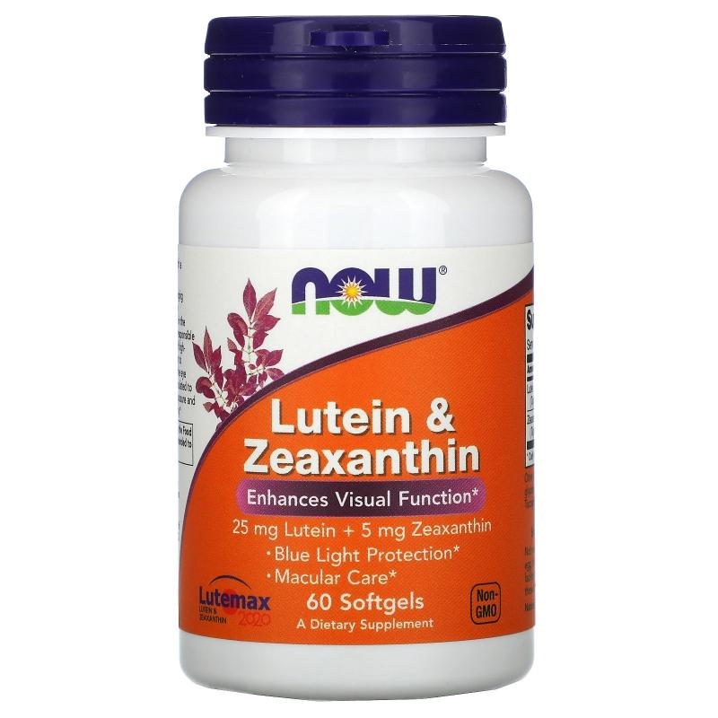 Now Foods Lutein & Zeaxanthin 60 softgels - фото 1