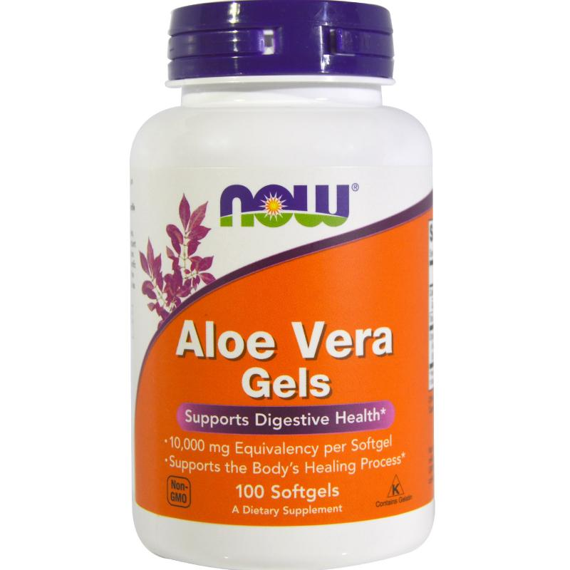 Now Foods Aloe Vera Gels 100 softgels - фото 1