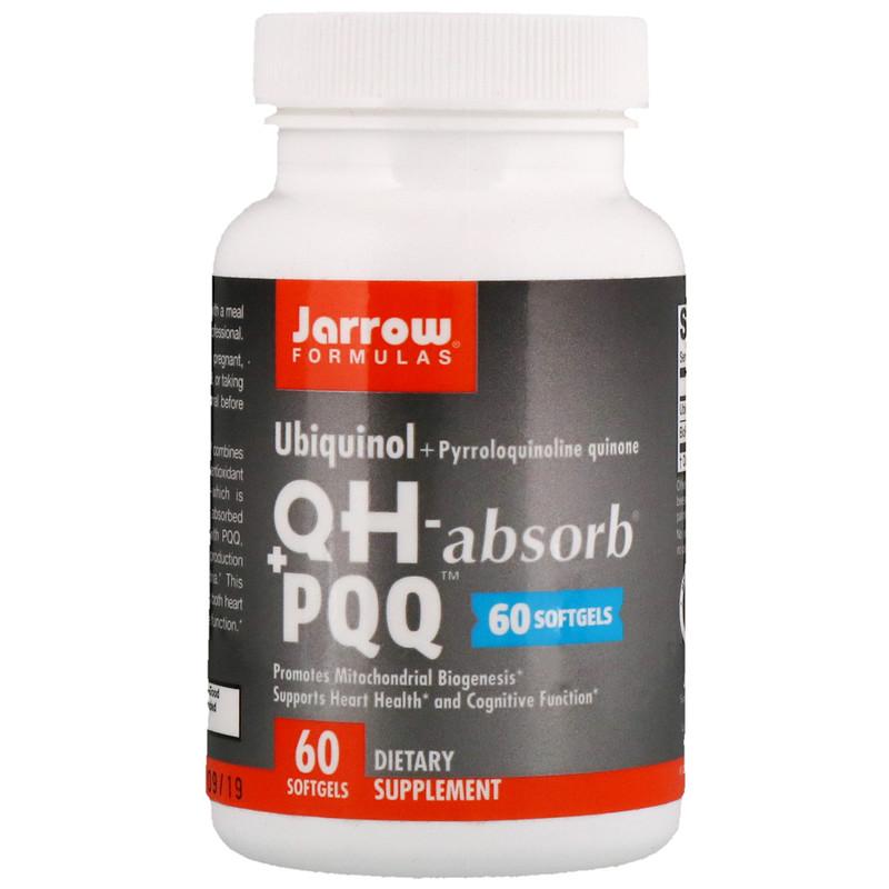 Jarrow Formulas Ubiquinol QH+ PQQ, 60 softgels - фото 1