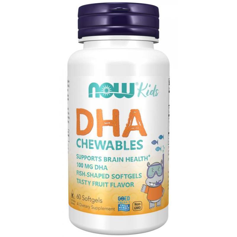 Now Foods DHA Kid's 100 mg 60 softgels - фото 1