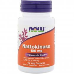 Now Foods Nattokinase 100 mg 60 Veg capsules
