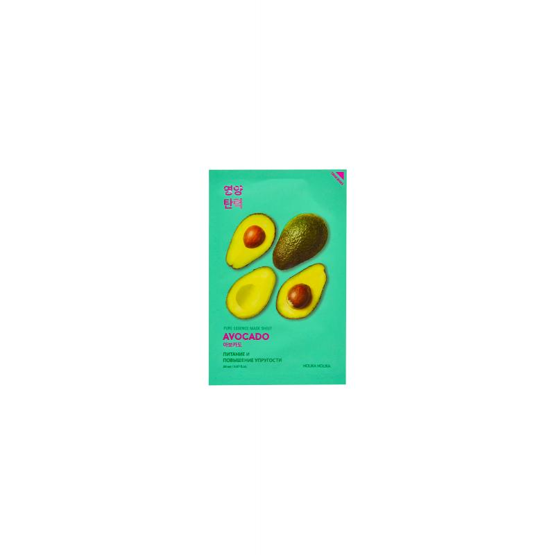 Holika Смягчающая тканевая маска авокадо Pure Essence Mask Sheet Avocado 20 мл - фото 1